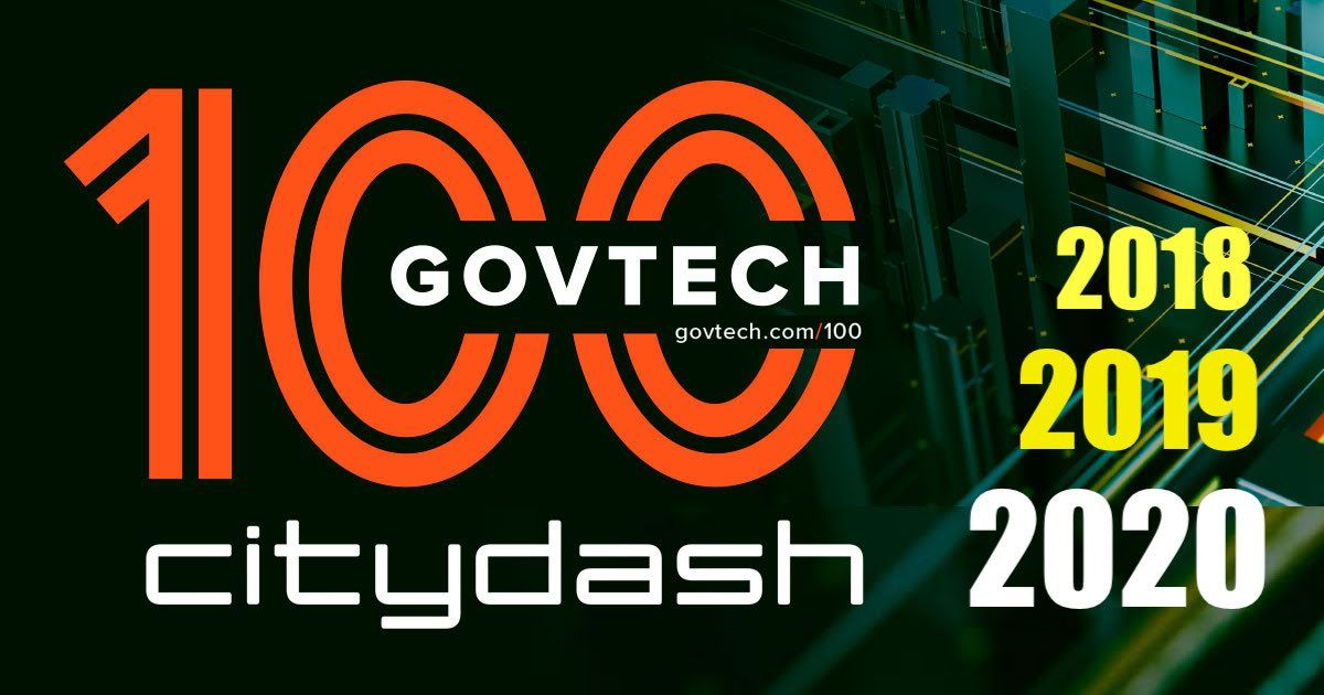 GovTech 100 list of innovative technology companies